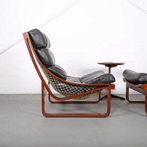 Fred Lowen Midcentury Modern Chair Leather Ledersessel Vintage Retro Geflochten 70er 70s Klassiker