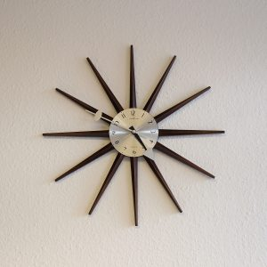 George Nelson Style Starburst Wall Clock Wanduhr Vitra Eames Herman Miller Designklassiker 60er 60s