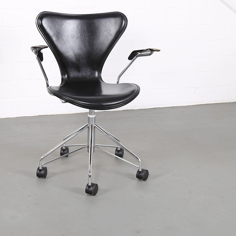 Arne jacobsen for fritz hansen series 7 office chair wood - Arne jacobsen drehstuhl ...