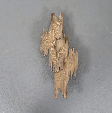 Large brutalist brass wall sconce