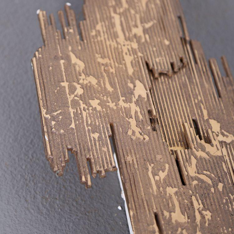 Brutalist wall sconce brass Wandleuchte der 60er 60s Design gebraucht used Brutalism Kalmar Sciolari