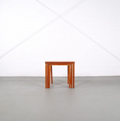 Danish Design Teak Nesting Tables E. W. Bach for Møbelfabrikken Toften