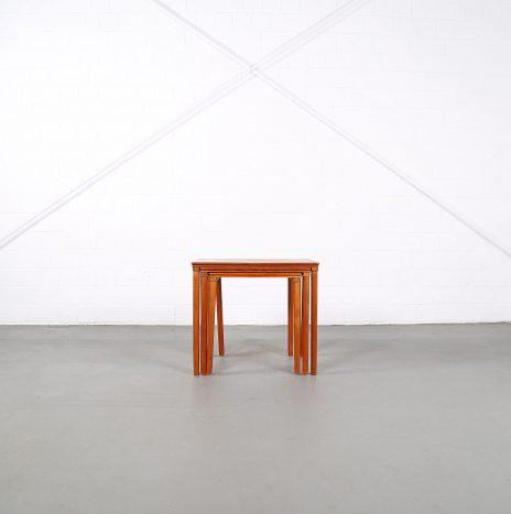 Danish Design Teak Nesting Tables E. W. Bach for Møbelfabrikken Toften