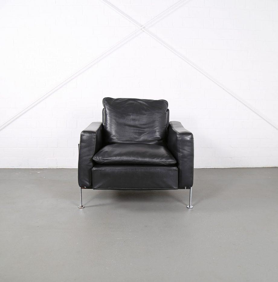 De_Sede_RH_302_Trix_Robert_Haussmann_Ledersessel_Leather_Easy_Chair_schwarz_chrom_Hans_Kaufeld_01