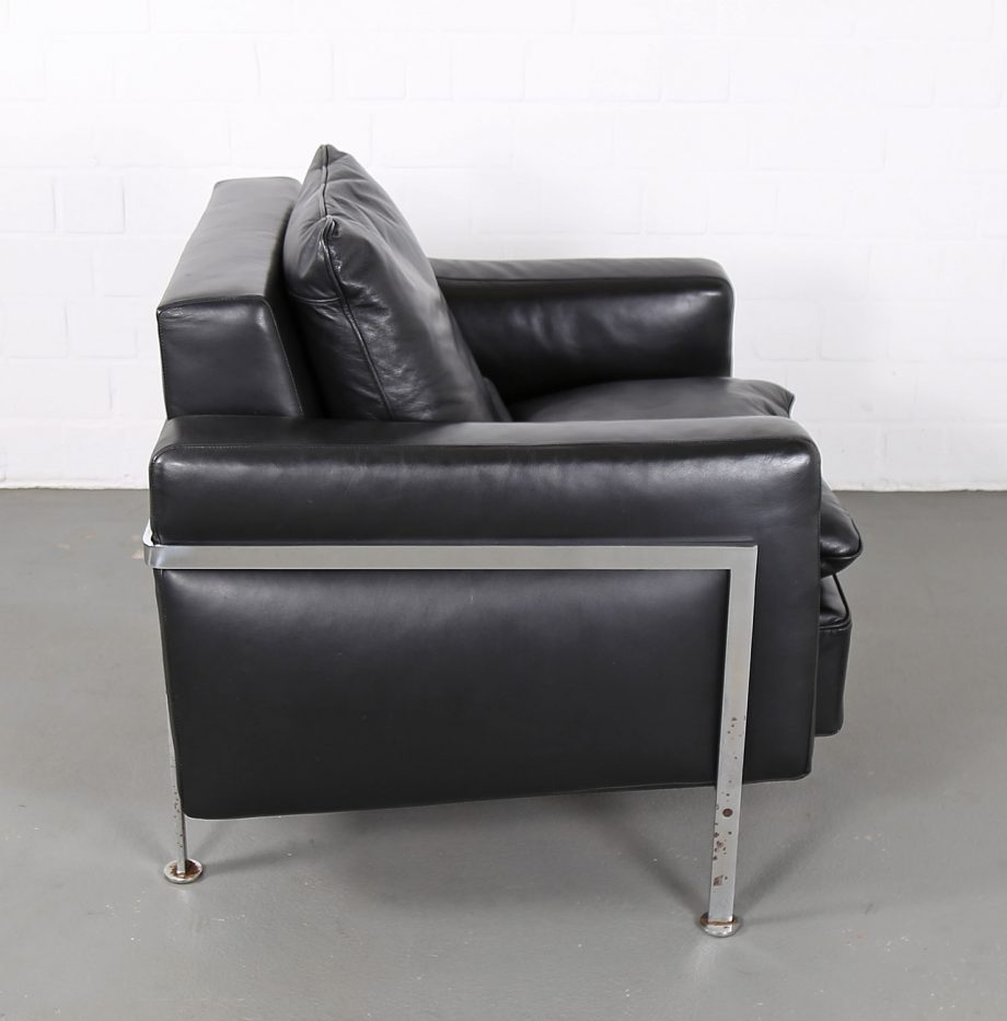 De_Sede_RH_302_Trix_Robert_Haussmann_Ledersessel_Leather_Easy_Chair_schwarz_chrom_Hans_Kaufeld_13