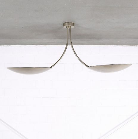 Florian Schulz Duan contemporary ceiling light nickel-plated brass