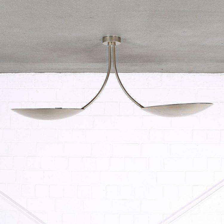 Deckenleuchte Florian Schulz Design Duan Modern Kaiser Idell Doppelarm Messing silber
