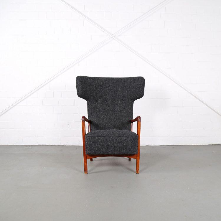 Sören Hansen Fritz Hansen Wingback Chair Kvadrat Hammerhead 50s Design