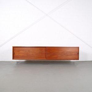 Floating Sideboard Wall Mounted Credenza Helmut Magg Deutsche Werkstätten 50s Design Teak Knoll Florence Leather Dorr Handles