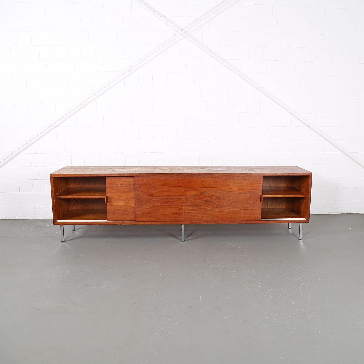 Large Teak Floating Sideboard Credenza Helmut Magg For Deutsche
