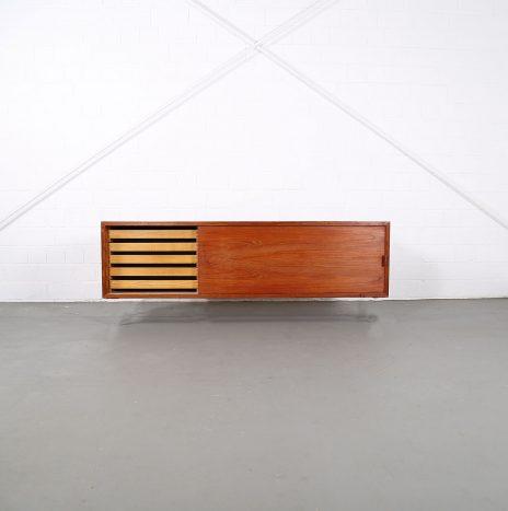 Small Teak Floating Sideboard Credenza Helmut Magg for Deutsche Werkstätten (attr.)