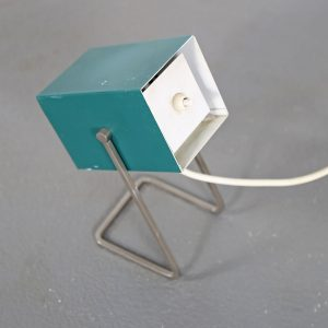 Kaiser Leuchten Cube Minimalist Table Lamp 50s Design green Cubist Christian Dell Idell