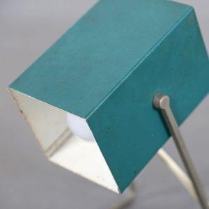 Kaiser Leuchten Cube Minimalist Table Lamp 50s Design green Cubist Christian Dell Idell