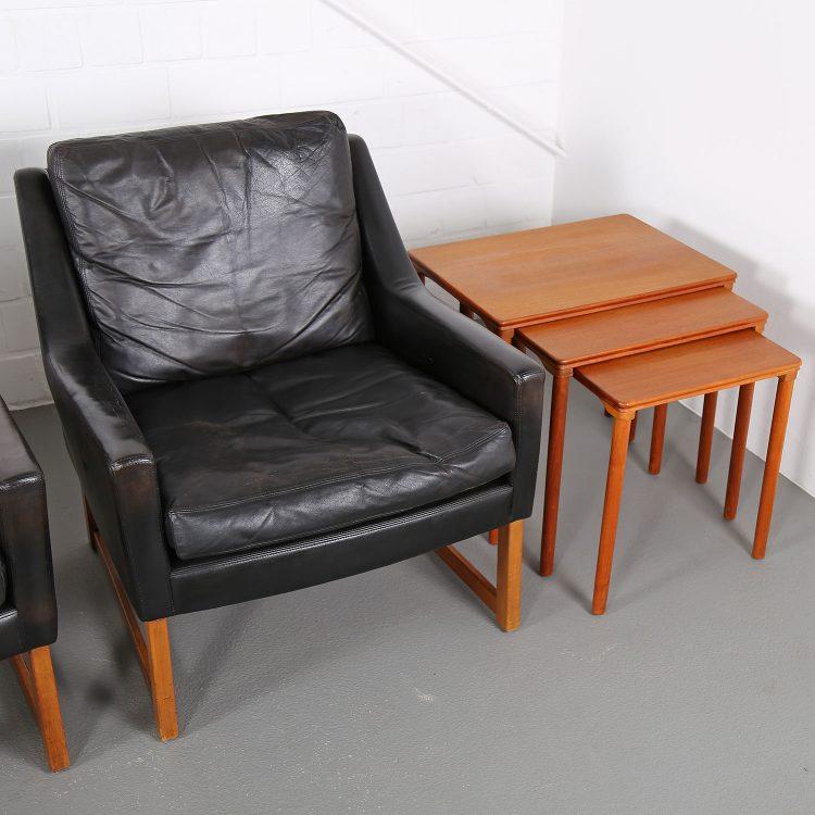 Kill International Rudolf Bernt Glatzel Ledersessel Armchair Easy Chair leather Teak