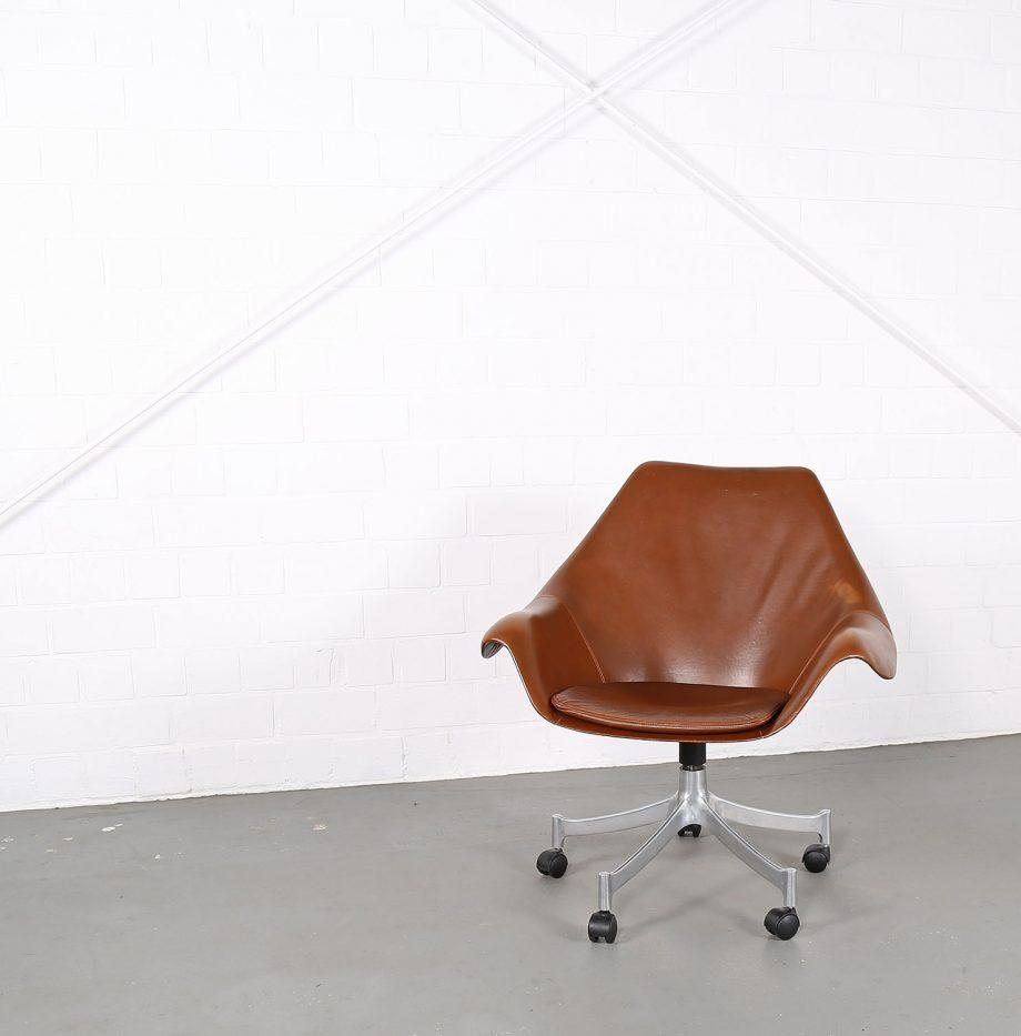 Office_Chair_Drehsessel_Bo-Ex Modell_932_Joergen_Lund_Ole_Larsen_selten_1965_60er_Design_Cognac_Leather_03