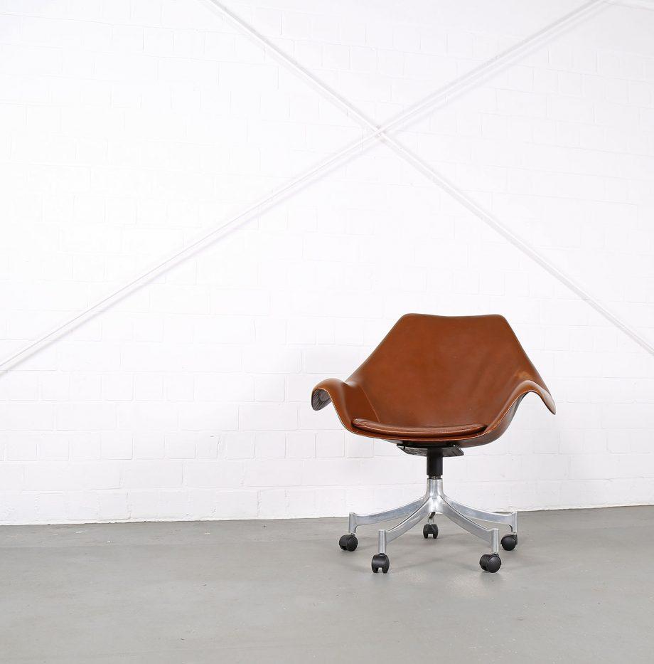 Office_Chair_Drehsessel_Bo-Ex Modell_932_Joergen_Lund_Ole_Larsen_selten_1965_60er_Design_Cognac_Leather_04