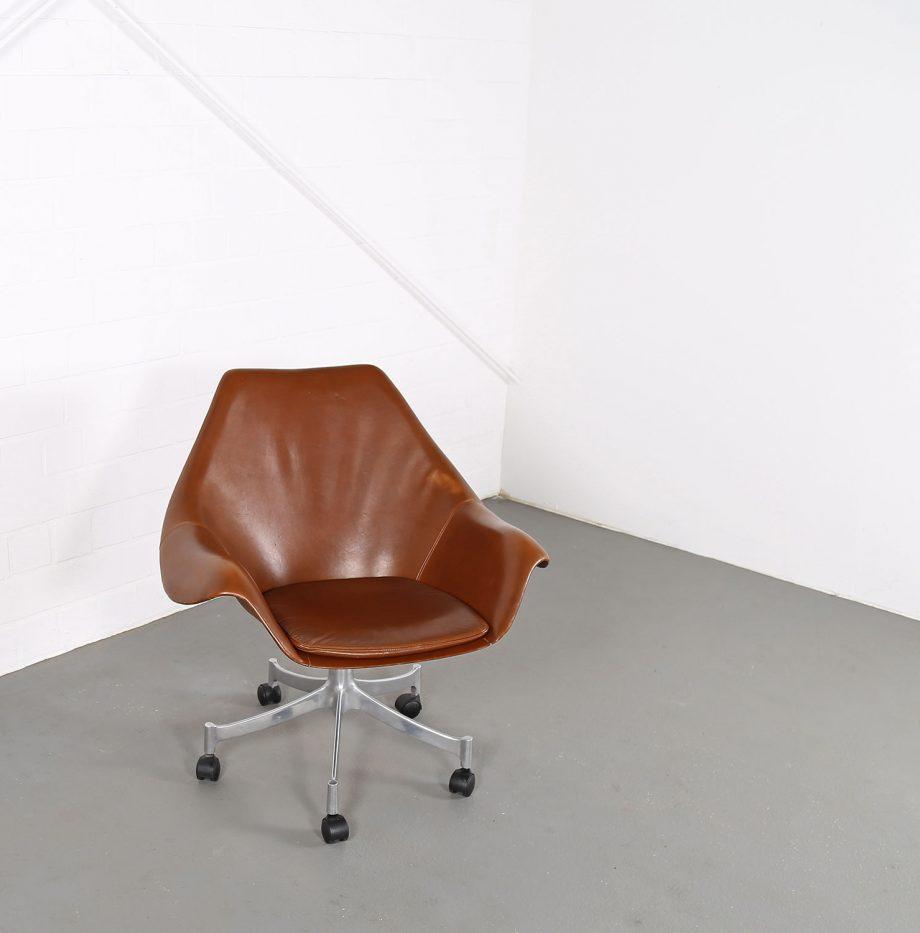 Office_Chair_Drehsessel_Bo-Ex Modell_932_Joergen_Lund_Ole_Larsen_selten_1965_60er_Design_Cognac_Leather_05