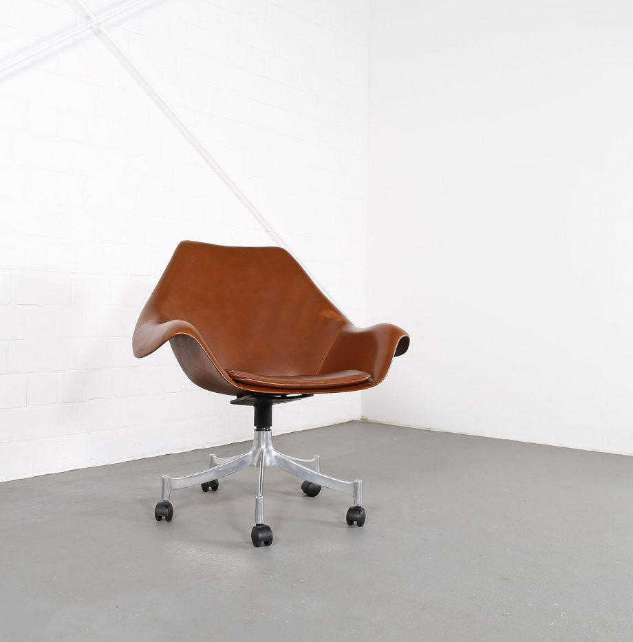 Office_Chair_Drehsessel_Bo-Ex Modell_932_Joergen_Lund_Ole_Larsen_selten_1965_60er_Design_Cognac_Leather_06