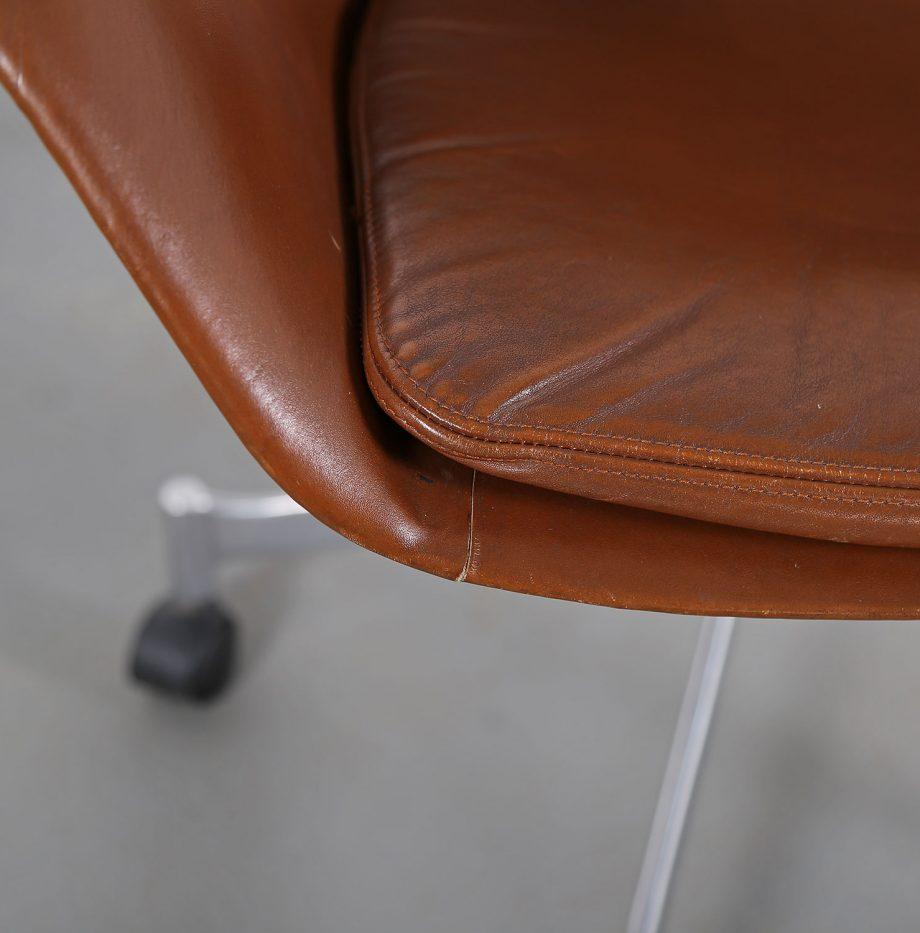 Office_Chair_Drehsessel_Bo-Ex Modell_932_Joergen_Lund_Ole_Larsen_selten_1965_60er_Design_Cognac_Leather_07