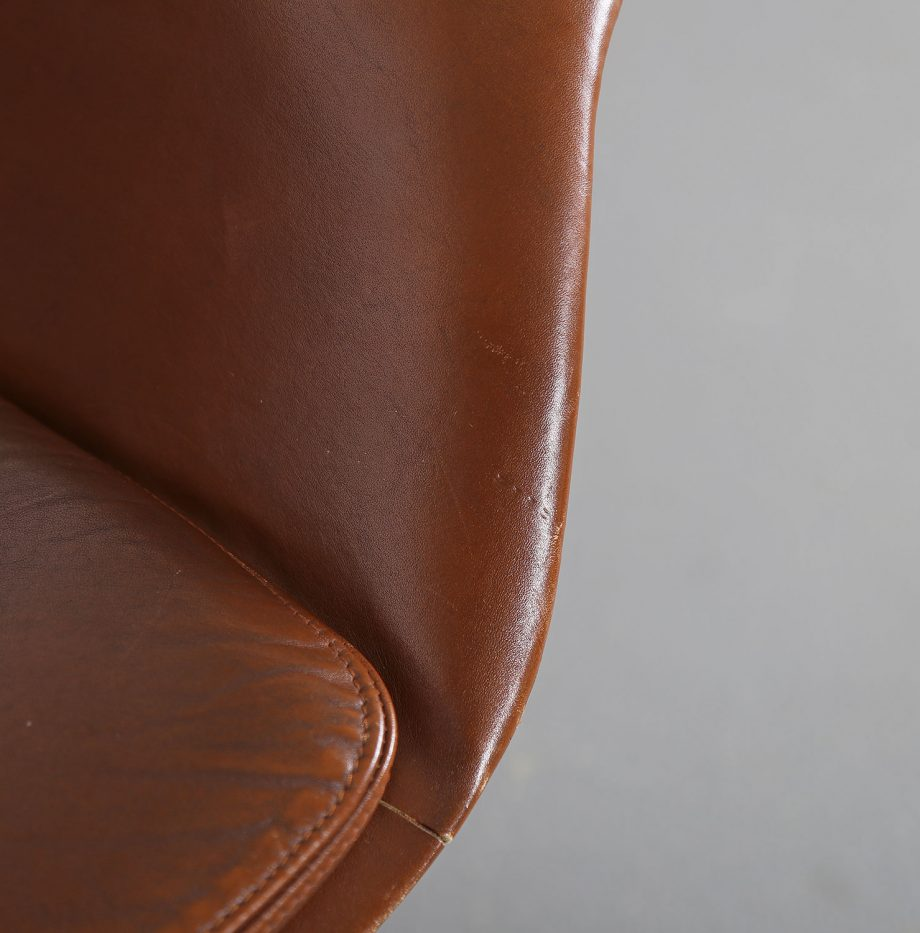 Office_Chair_Drehsessel_Bo-Ex Modell_932_Joergen_Lund_Ole_Larsen_selten_1965_60er_Design_Cognac_Leather_08