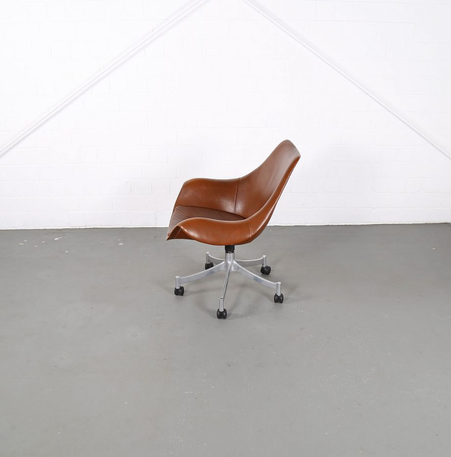Office_Chair_Drehsessel_Bo-Ex Modell_932_Joergen_Lund_Ole_Larsen_selten_1965_60er_Design_Cognac_Leather_11