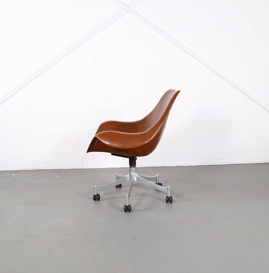 Office_Chair_Drehsessel_Bo-Ex Modell_932_Joergen_Lund_Ole_Larsen_selten_1965_60er_Design_Cognac_Leather_12