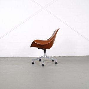 Office Chair Model 932 Jørgen Lund & Ole Larsen for Bo-Ex in Cognac 60s Danish Design rare