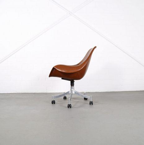 Office Chair Model 932 Jørgen Lund & Ole Larsen for Bo-Ex in Cognac