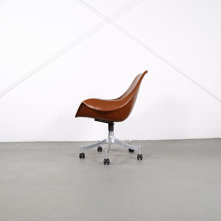 Office Chair Model 932 Jørgen Lund & Ole Larsen for Bo-Ex in Cognac 60s Danish Design rare