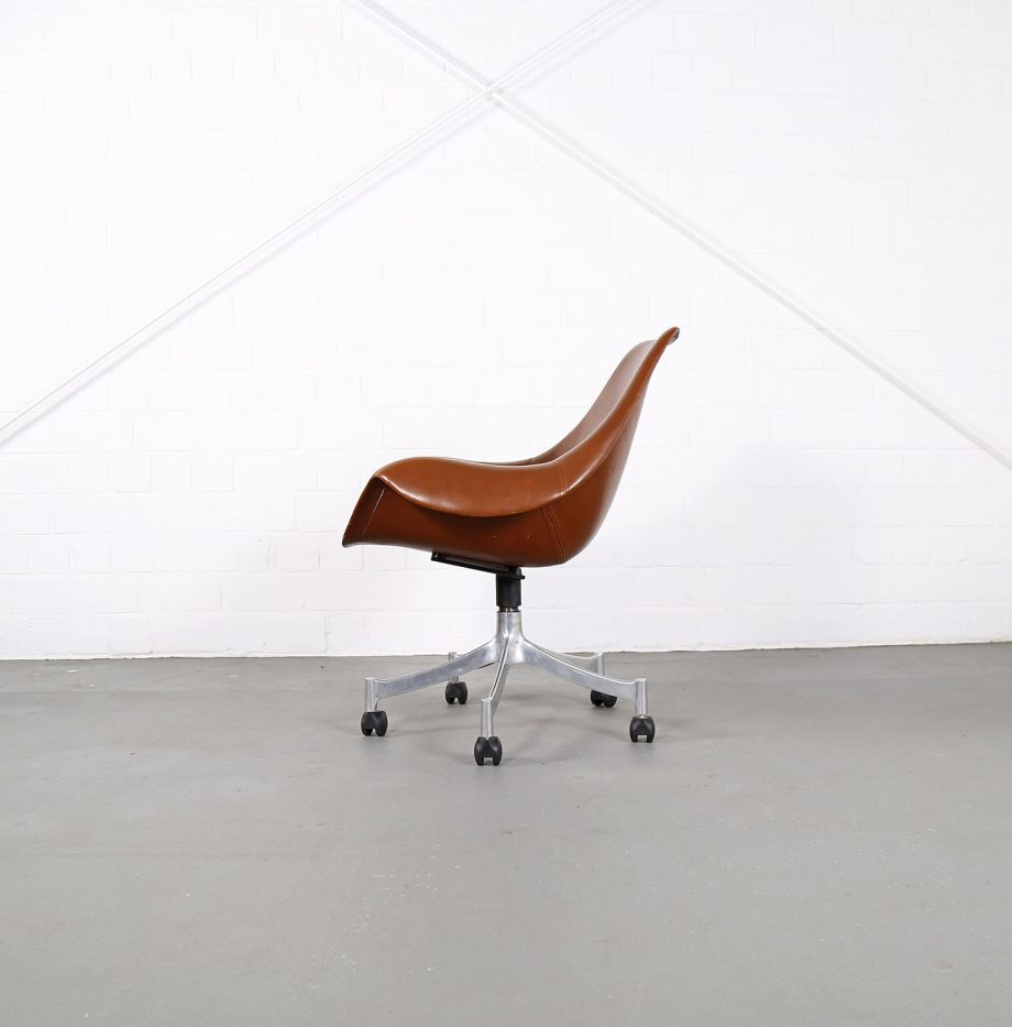Office_Chair_Drehsessel_Bo-Ex Modell_932_Joergen_Lund_Ole_Larsen_selten_1965_60er_Design_Cognac_Leather_13