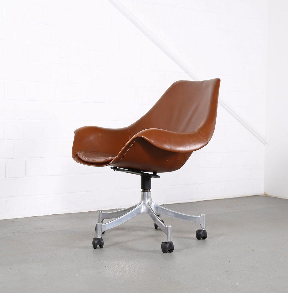 Office_Chair_Drehsessel_Bo-Ex Modell_932_Joergen_Lund_Ole_Larsen_selten_1965_60er_Design_Cognac_Leather_14