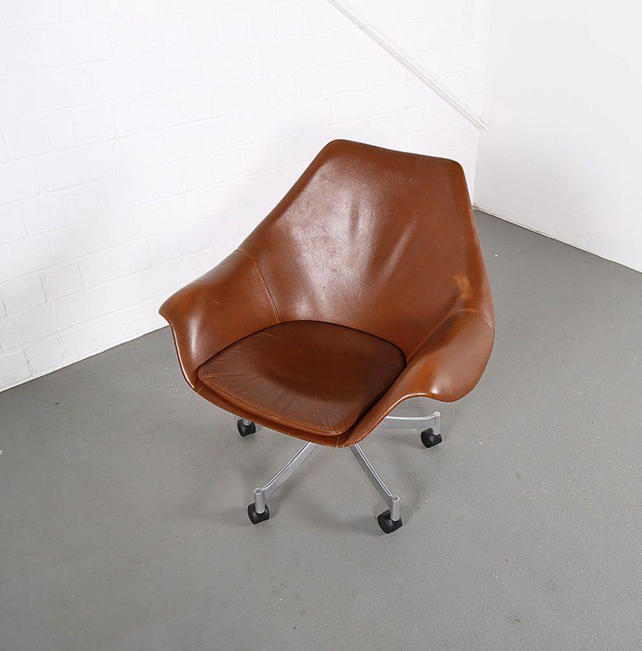 Office_Chair_Drehsessel_Bo-Ex Modell_932_Joergen_Lund_Ole_Larsen_selten_1965_60er_Design_Cognac_Leather_16