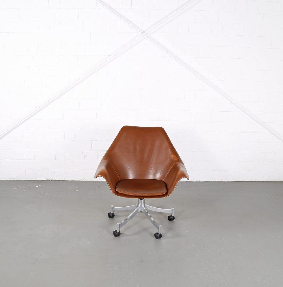 Office_Chair_Drehsessel_Bo-Ex Modell_932_Joergen_Lund_Ole_Larsen_selten_1965_60er_Design_Cognac_Leather_17