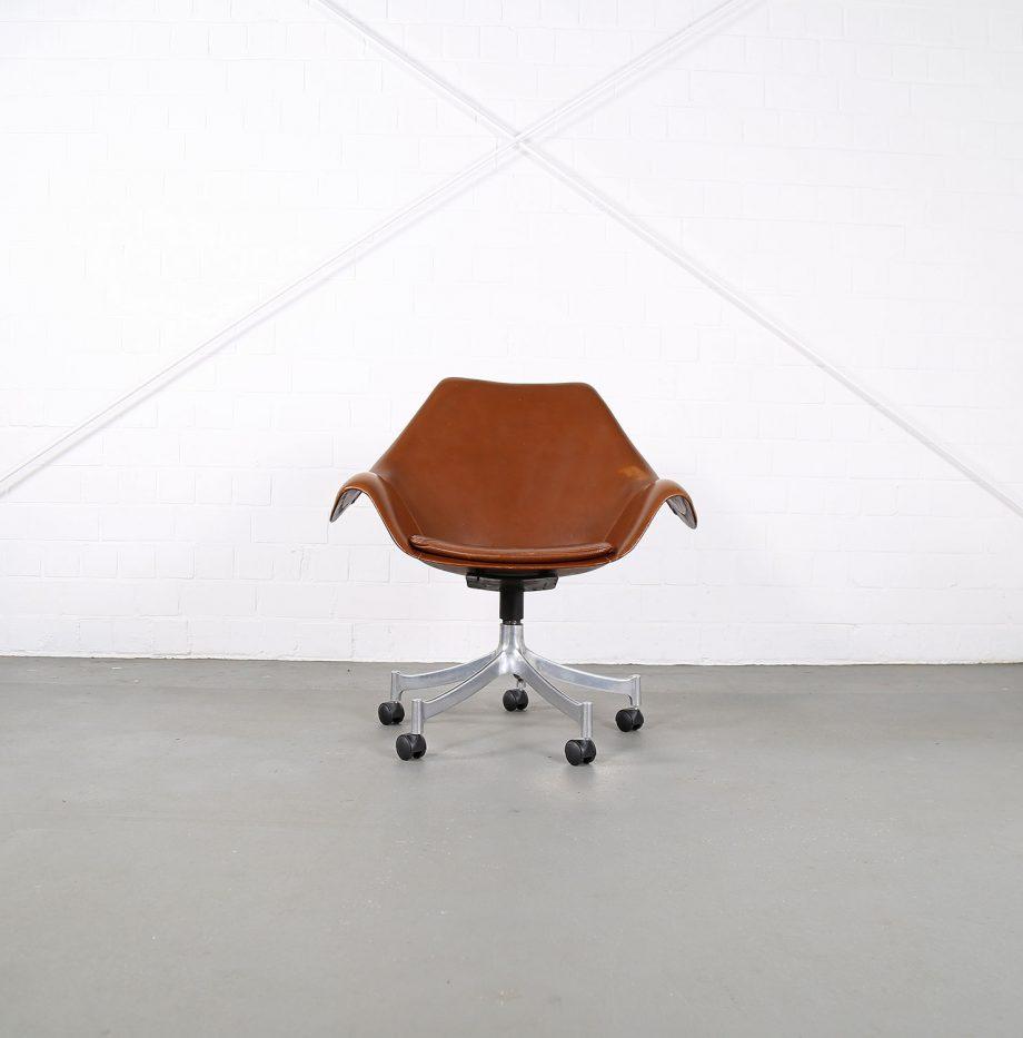 Office_Chair_Drehsessel_Bo-Ex Modell_932_Joergen_Lund_Ole_Larsen_selten_1965_60er_Design_Cognac_Leather_18