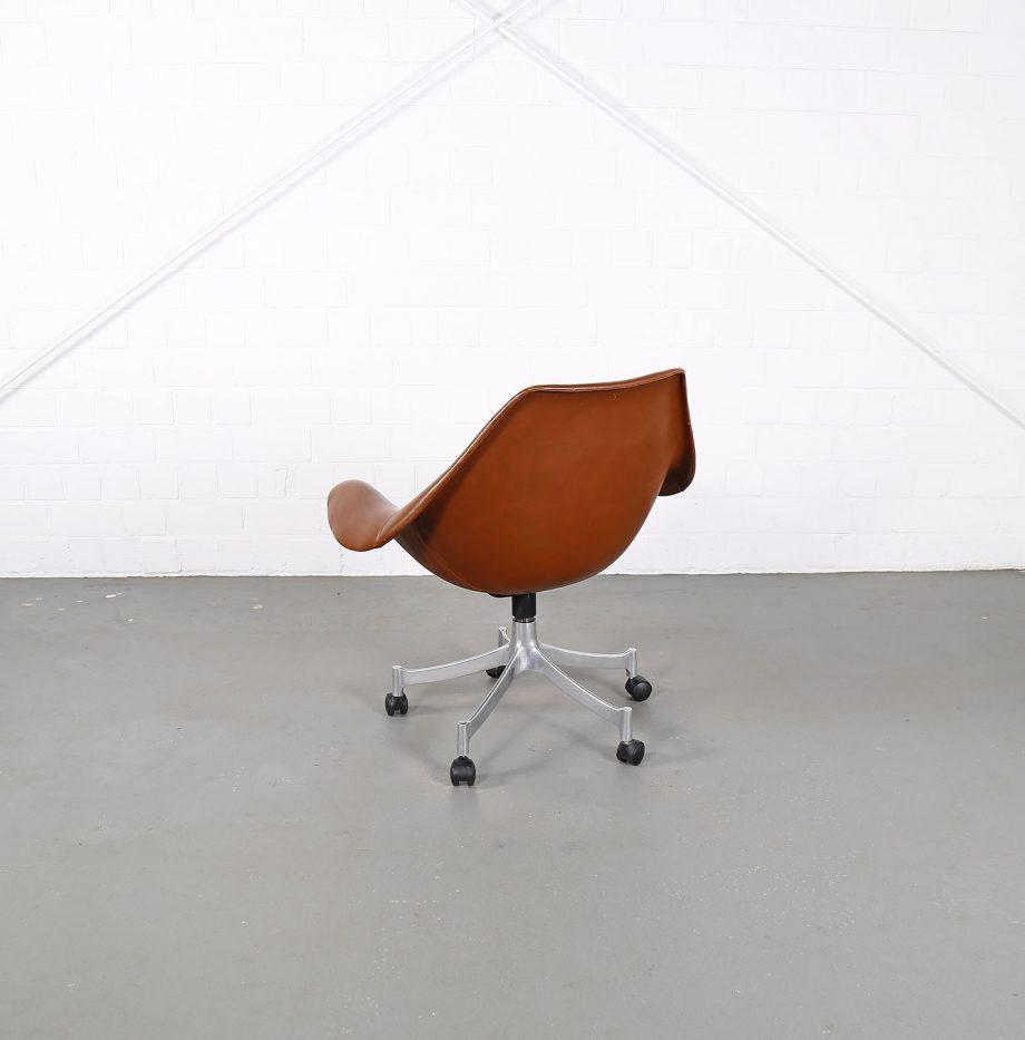 Office_Chair_Drehsessel_Bo-Ex Modell_932_Joergen_Lund_Ole_Larsen_selten_1965_60er_Design_Cognac_Leather_19