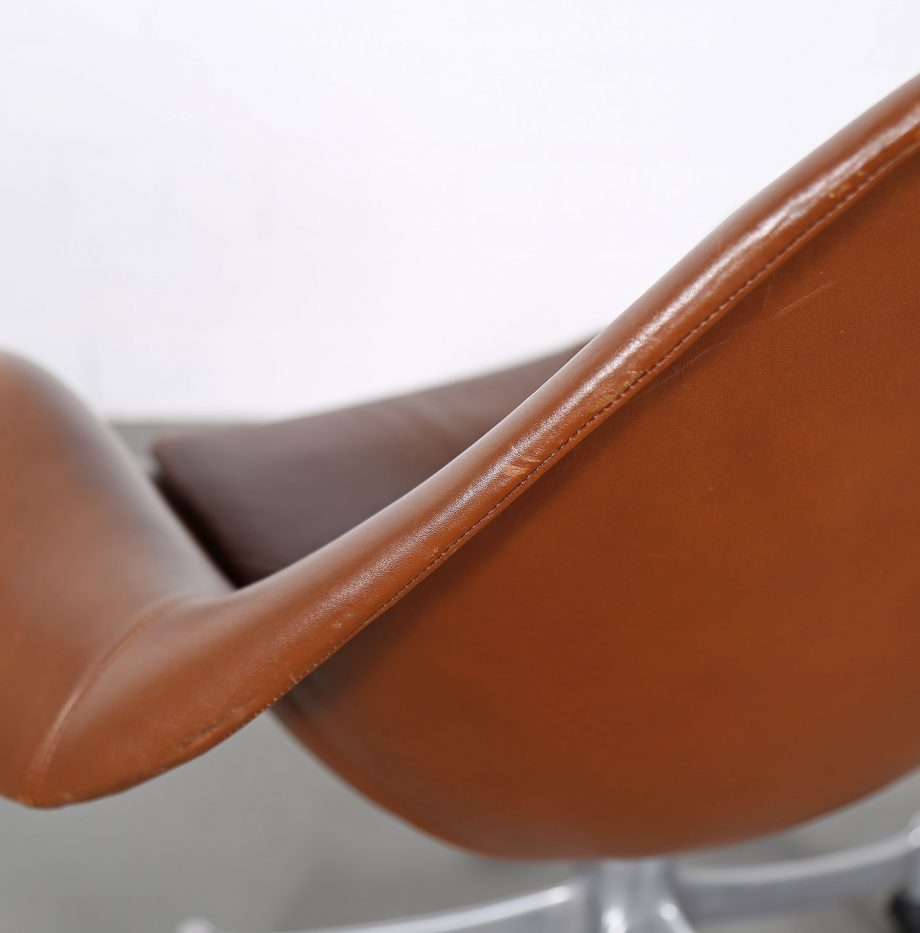 Office_Chair_Drehsessel_Bo-Ex Modell_932_Joergen_Lund_Ole_Larsen_selten_1965_60er_Design_Cognac_Leather_20