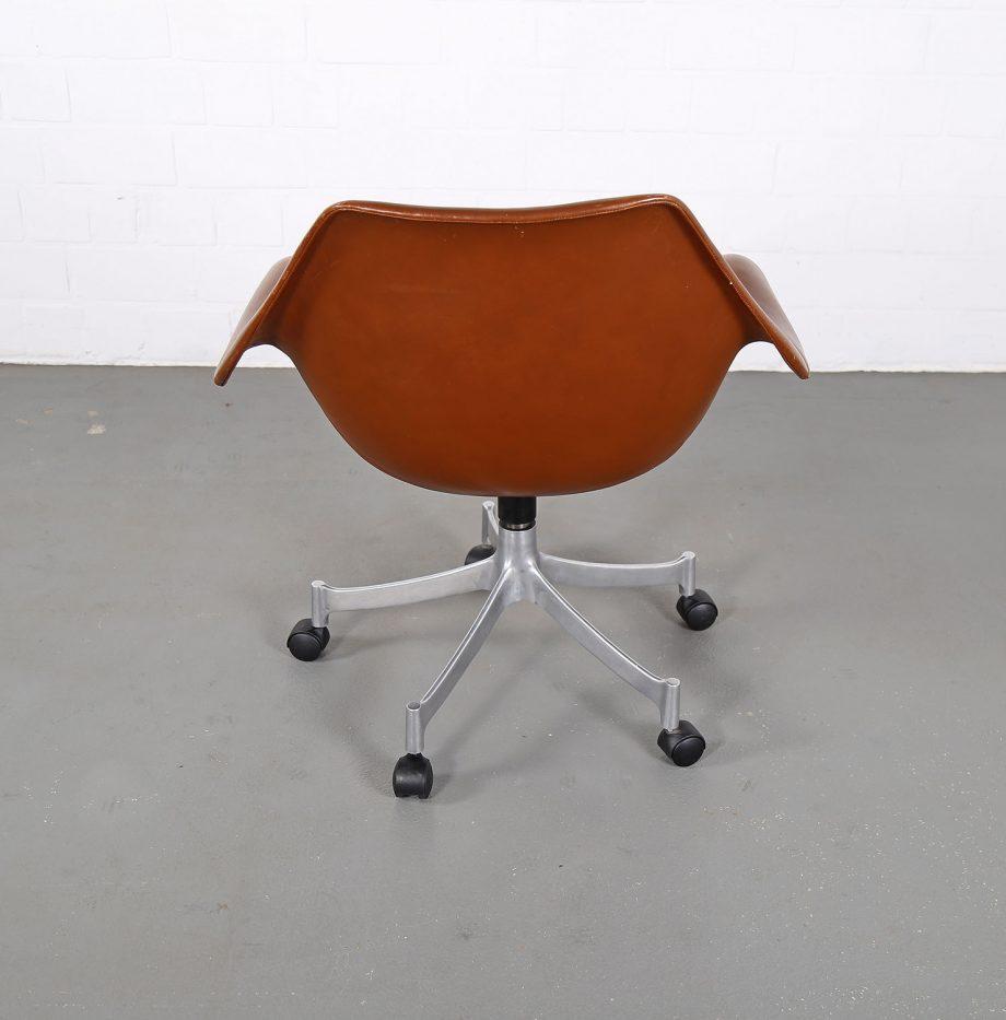Office_Chair_Drehsessel_Bo-Ex Modell_932_Joergen_Lund_Ole_Larsen_selten_1965_60er_Design_Cognac_Leather_21