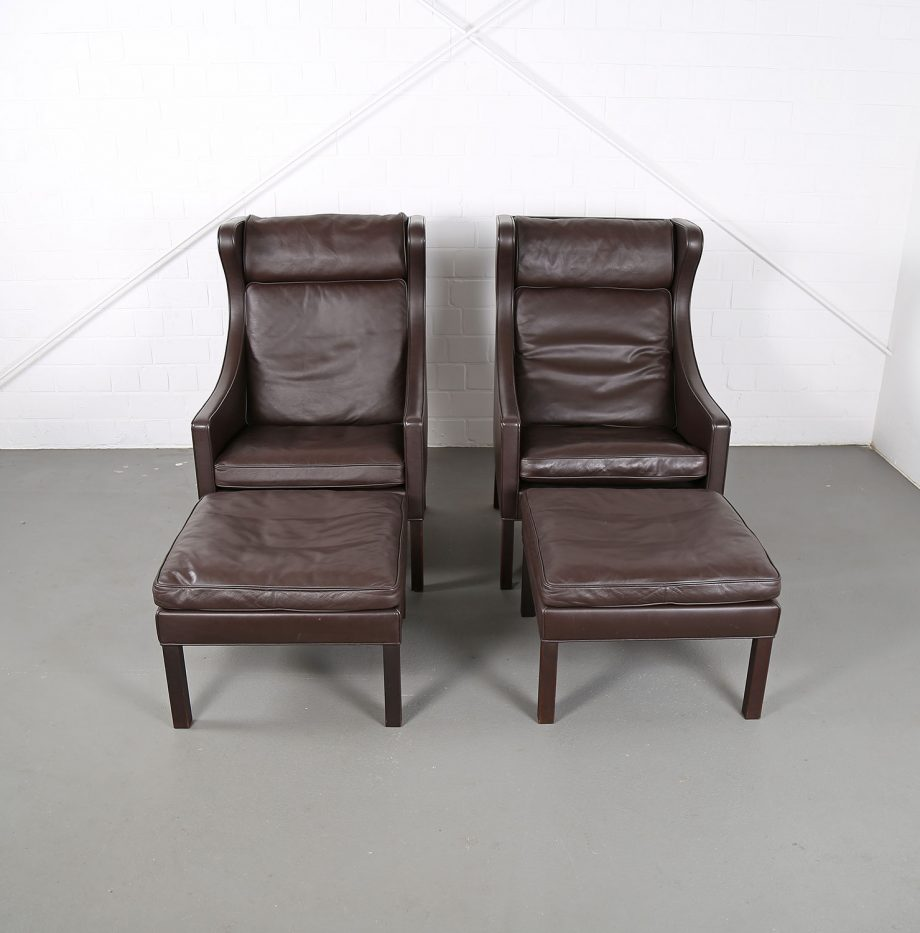 Sessel_Borge_Mogensen_Fredericia_Modell_2204_Ledersessel_mit_Hocker_Set_braun_leather_darkbrown_wingback-chair_ottoman_01