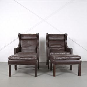 Borge Mogensen Danish Design Used gebraucht kaufen Orhensessel Wingbackchair 2201 2202 Ottoman