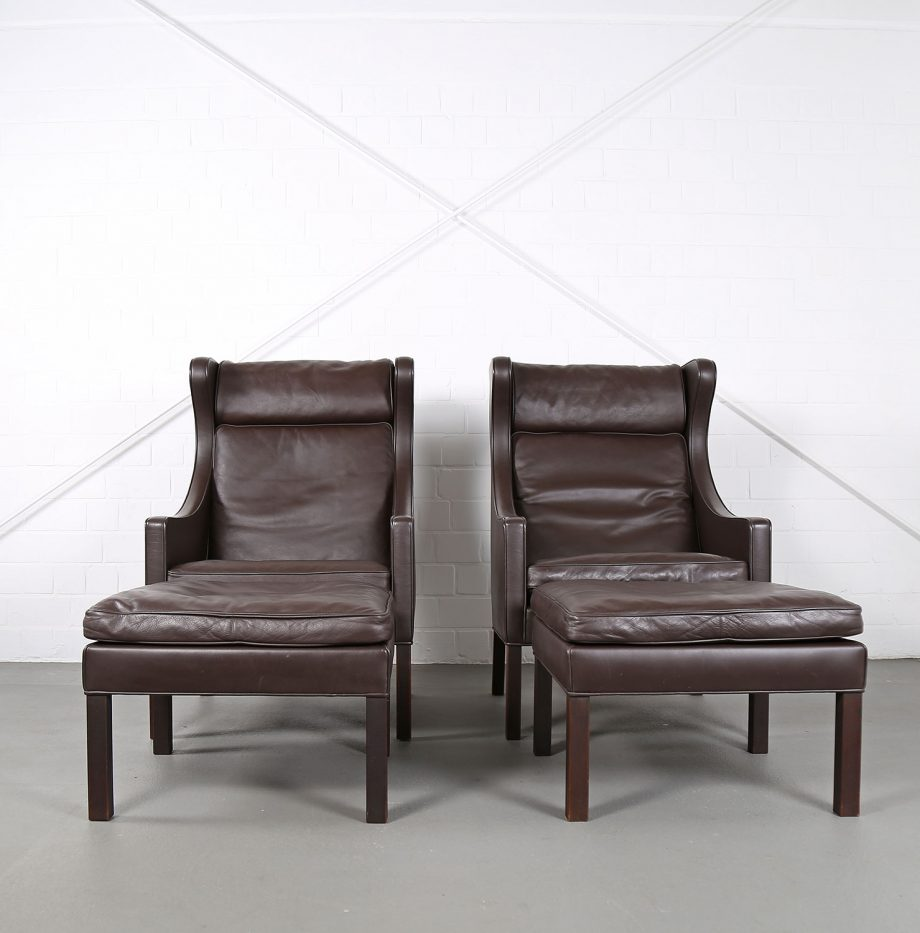 Sessel_Borge_Mogensen_Fredericia_Modell_2204_Ledersessel_mit_Hocker_Set_braun_leather_darkbrown_wingback-chair_ottoman_02