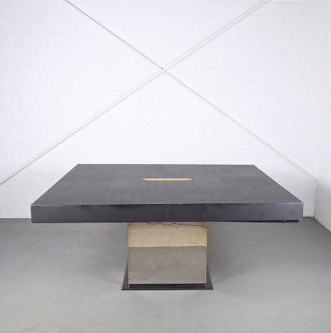 Leather Conference Table C.E.O. Cube Lella & Massimo Vignelli for Poltrona Frau