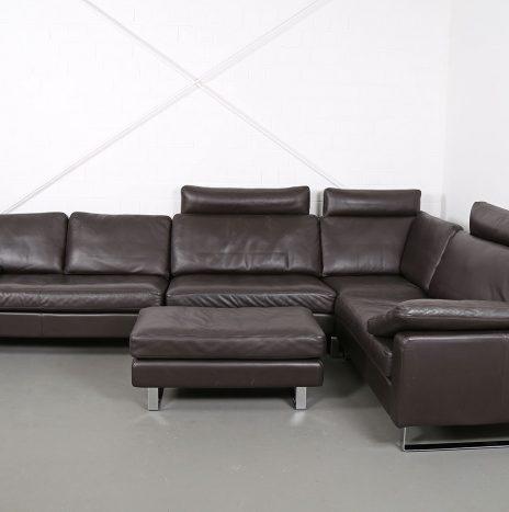 COR Conseta brown Leather Corner Couch Ecksofa Design