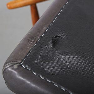 Ejvid_Johansson_Footstool_Ottoman_Fdb_Mobler_Teak_Leather_Danish_Design