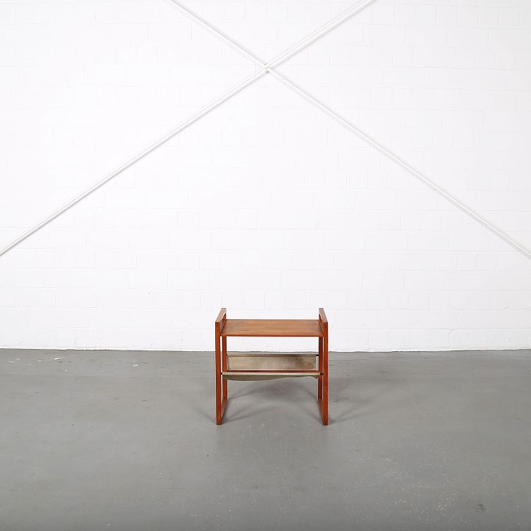 Kai_Kristiansen_Sika_Moebler_Teak_Leather_Magazine_Rack_Danish_Design_used_50s_MCM