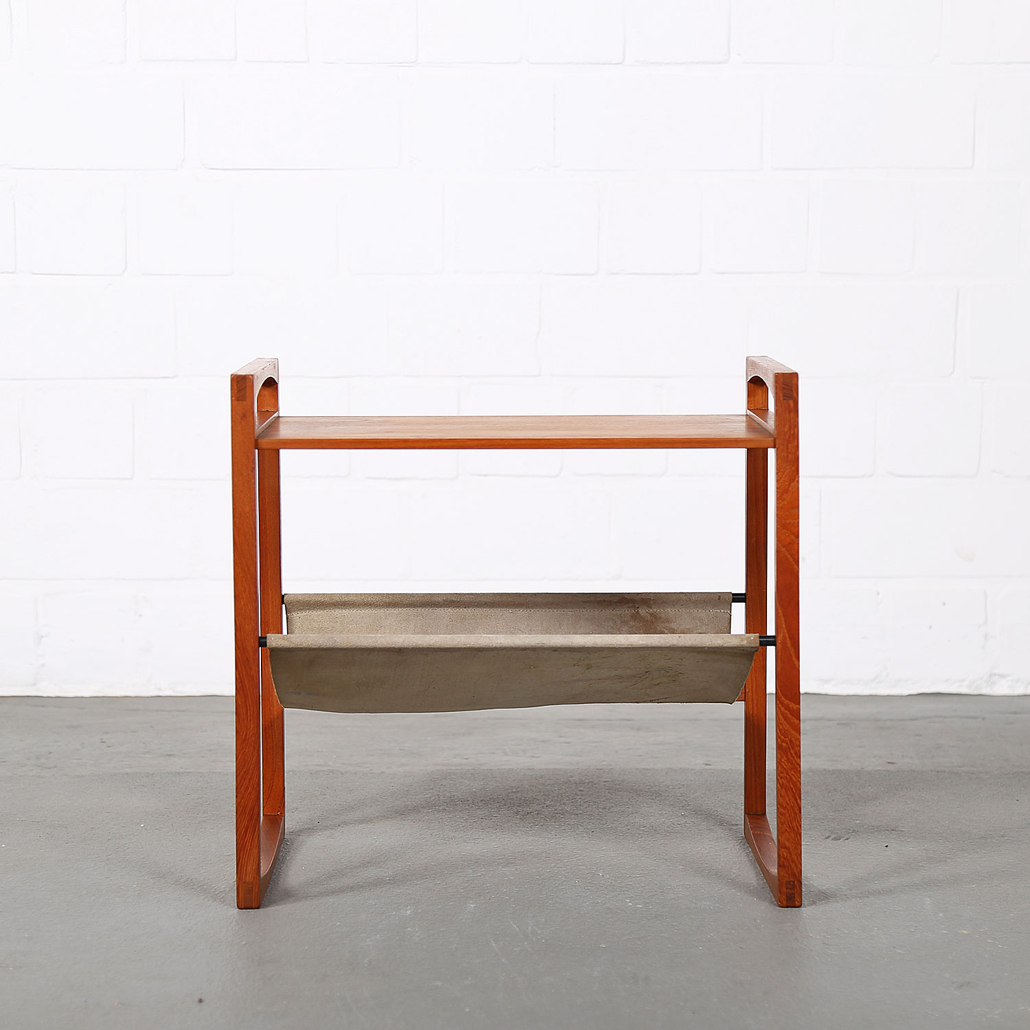 Danish Design Side Table Teak Magazine Rack By Kai Kristiansen For