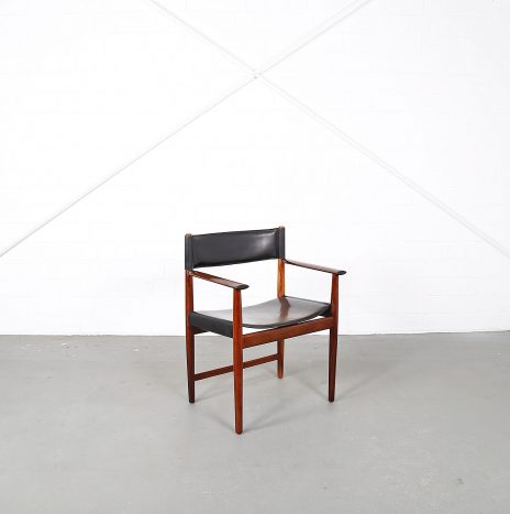 Leather Rosewood Armchair by Kurt Østervig for Sibast Danish Design