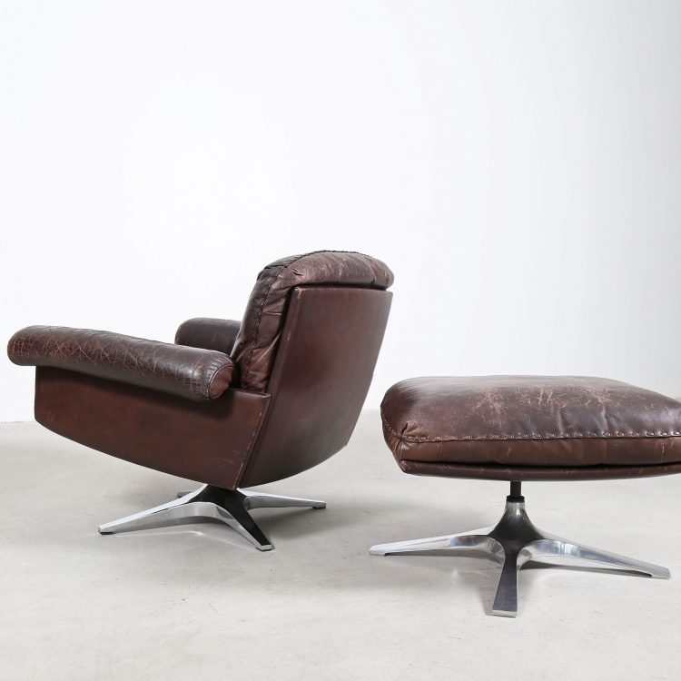 De Sede Lounge Chair and Ottoman Leather DS 31