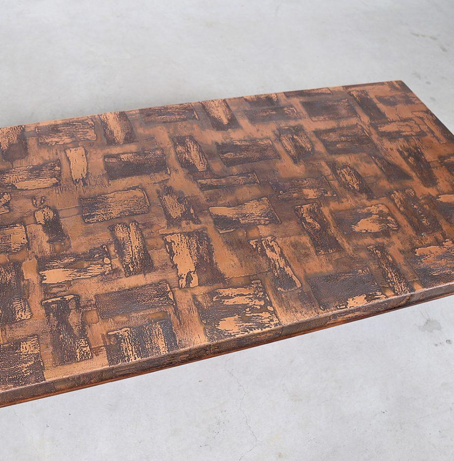 Kupfertisch_copper_Coffee_Table_Brutalist_Heinz_Lilienthal_70s_Design_Designklassiker_gebraucht_selten_German_Design_11