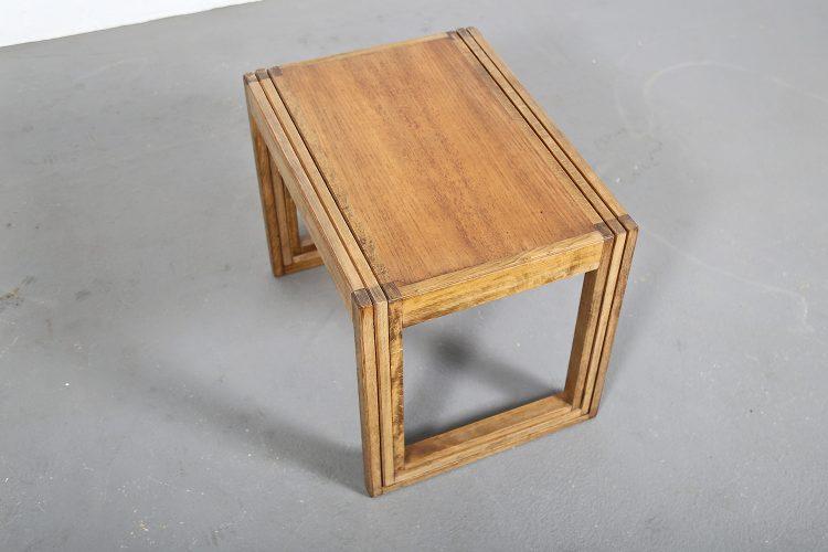Danish Design nesting Tables Oak Satztische Eiche Kubismus Cube modern 60s Vintage