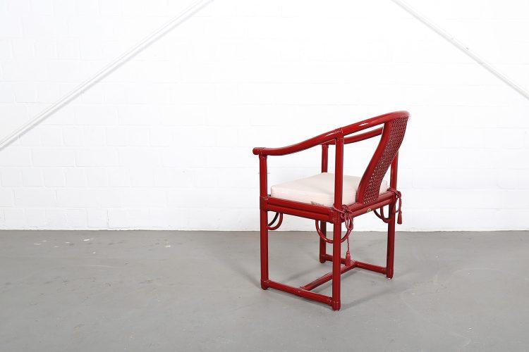 Gasparucci Italo Bamboo China Chair Stool Italian Design